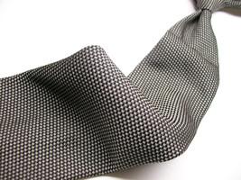 Rare ROBERT TALBOTT  Black/ WHITE  TEXTURED  Mens 100 SILK Necktie 412 6 - $39.99