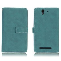 Sony Xperia C3 Case,Gloryshop 9 Card Slots Minimalist Matte Series PU Le... - $7.91