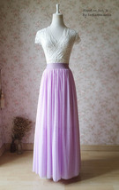 Plus Size Full Long Tulle Skirt Gray Blush White Women Tulle Skirt Wedding Skirt image 6