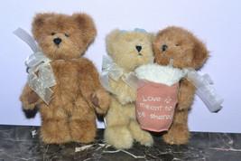 "3 Boyds Bears Bearlove 6"" & Webster T Bearsworth 57253-11 7"" - $11.64"
