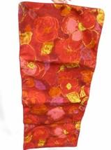 Vintage Lingerie Bag  Celebrity Jewelry Hanging Large RedPink Floral 1950s - $27.88