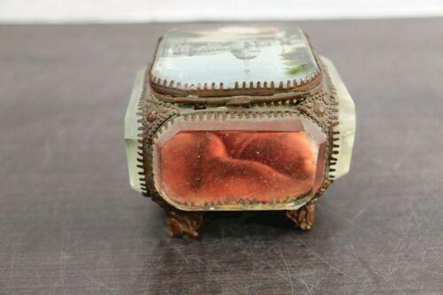 "Rare Vintage Regency 10"" Decorative Capitol Building Box Vanity Jewelry Trinket"