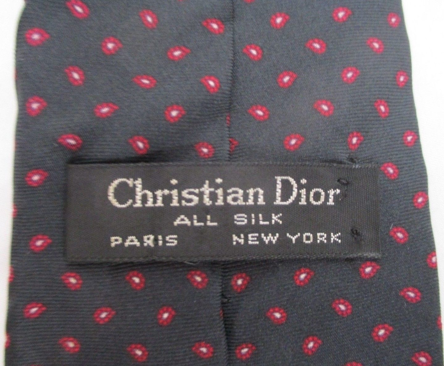 03831f24e60e Vintage Christian Dior Tie Black Red White and 50 similar items. 57