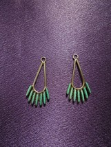 Vintage Turquoise South Western Style Sterling Silver Earring Jacket Set - $34.65