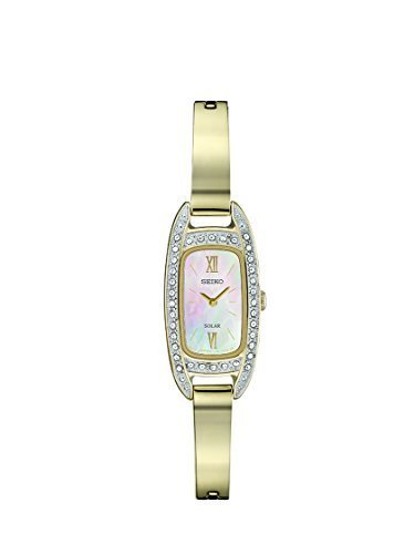 Seiko Women's 'JEWELRY' Quartz Stainless Steel Dress Watch, Color:Gold-Toned (Mo