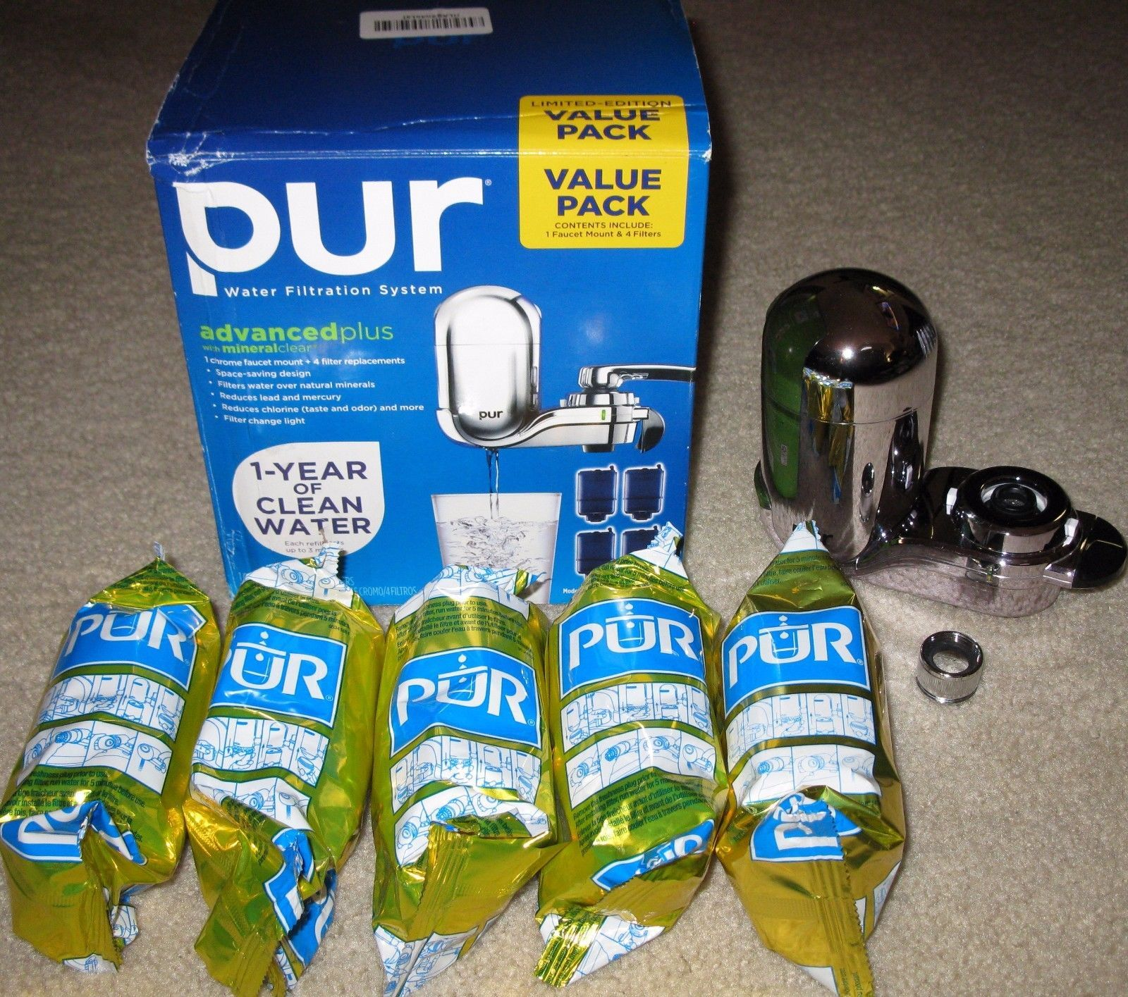 Pur Faucet Mount Chrome Water Filtration and 50 similar items