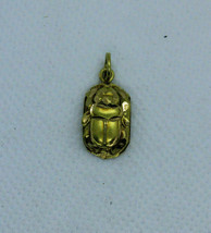 Egyptian Scarab Gold 18K DOUBLE SIDE Stamped Pharaonic Yellow Gold Pendant 1.5Gr - $209.34