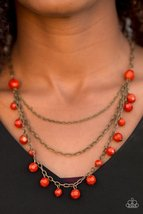You The GLAM! - Orange Necklace - $5.00