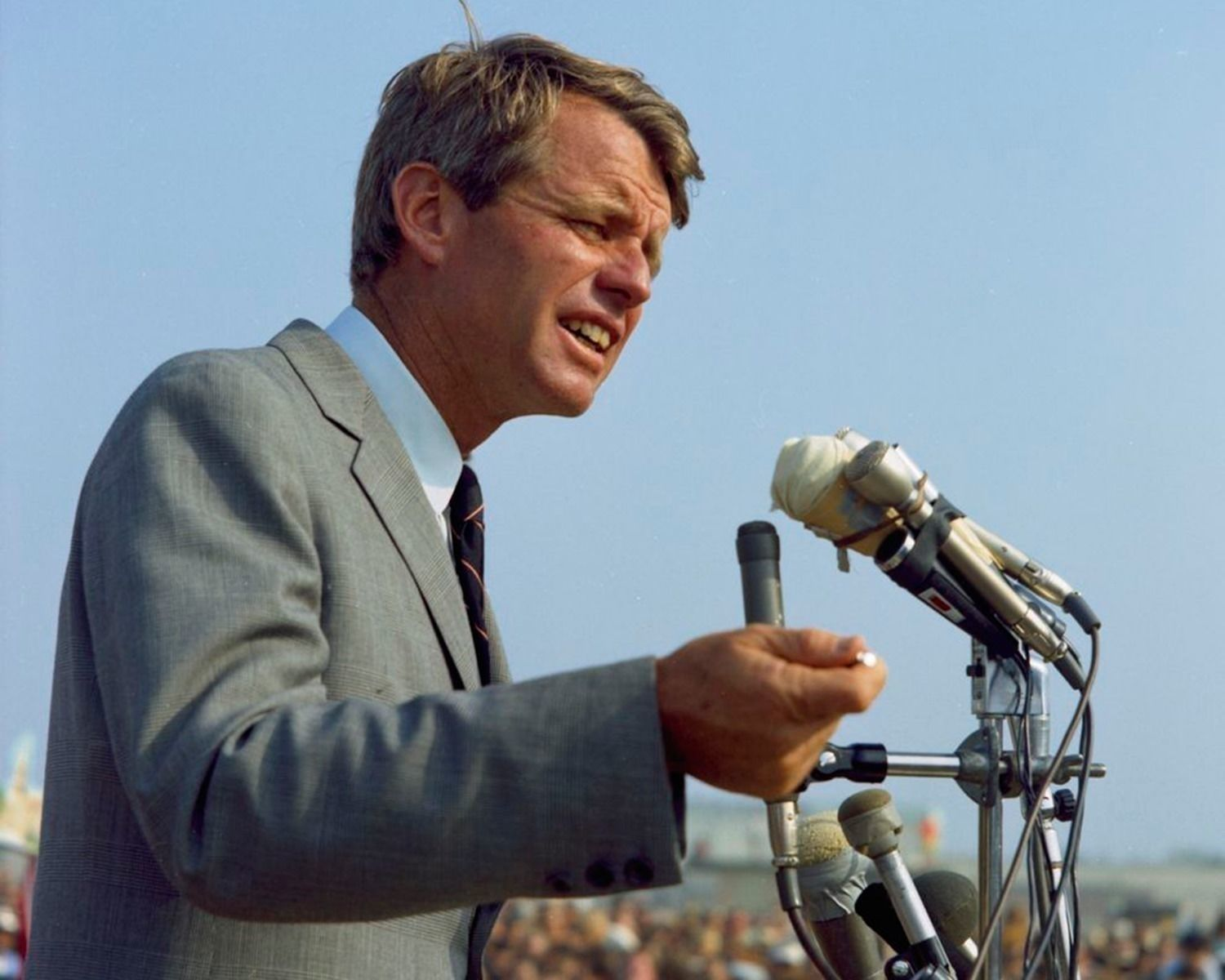 Primary image for Senator Robert F. Kennedy campaigns in Garden Grove California New 8x10 Photo