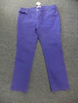 CHICO'S Purple Cotton Blend So Slimming Mid Rise Skinny Jeans Size 2.5 D... - $39.59