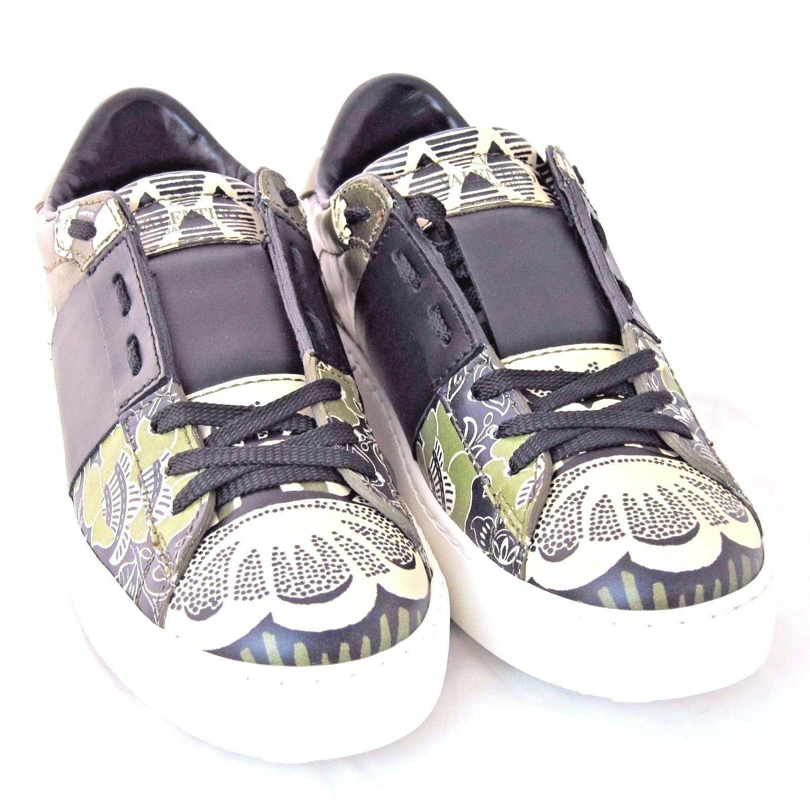 k vl2153 neu valentino damen rockstud fashion sneaker gr n schuh gr e 37 5 us 7 athletic. Black Bedroom Furniture Sets. Home Design Ideas