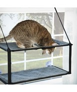 K&H KITTY SILL EZ WINDOW MOUNT CAT TV BED SUCTION CUPS HOLD 100 LB EZ CLEAN - £27.60 GBP+