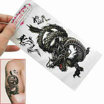 Men / Women Fashion Temporary Tattoo Dragon Pattern Body Art Waterproof Sticker image 5