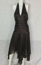 BCBG MaxAzria Dress 100% Silk Brown irregular hem Formal Party Prom Sz 0 - $49.99