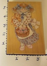 Stamps Happen Wood Mounted Rubber Stamp Heather & Timothy Bear NEW!! - $11.64