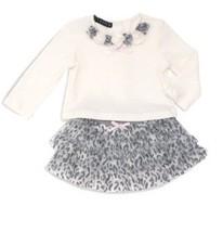 Kate Mack Toddler Girls White Size 2T 2pc Top & Tutu Animal Print Skirt ... - $29.92