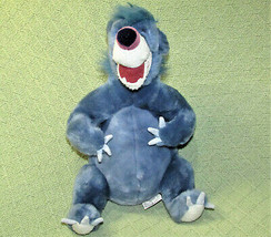 "DISNEY STORE BALOO STUFFED ANIMAL The JUNGLE BOOK BEAR 12"" BIG BLUE PLUS... - $24.75"