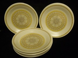 "SET OF (8) FRANCISCAN HACIENDA GOLD STONEWARE 6 1/2"" BREAD PLATES ~ NOS - $49.50"