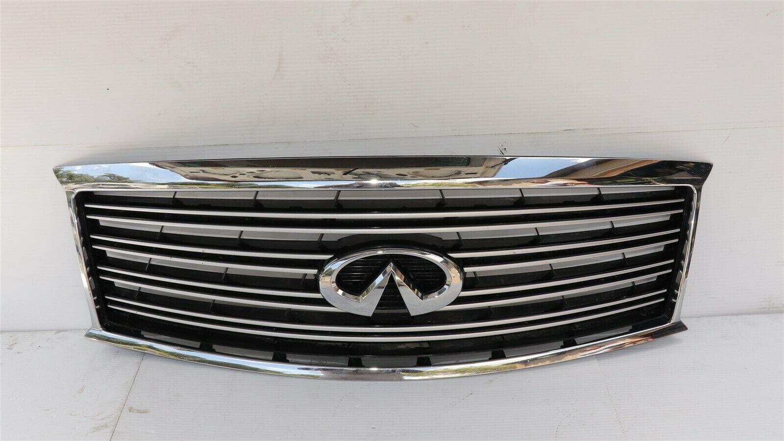 11-14 Infiniti Q70 M35h M37 M56 Front Bumper Upper Grille W/ Emblem W/O Camera
