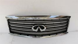 11-14 Infiniti Q70 M35h M37 M56 Front Bumper Upper Grille W/ Emblem W/O Camera  image 1