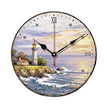 "George Jimmy 10"" Retro Unique Lighthouse Wall Clock Decor Silence Hangin... - $48.01"