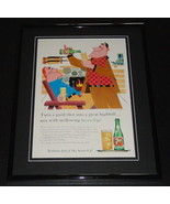 1958 Seven Up 7 Up 11x14 Framed ORIGINAL Vintage Advertisement - $46.39