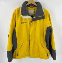 Columbia Cross Terra Skit Jacket Mens Size Medium Yellow Gray Zip Up Jacket - $59.40