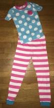 * Childrens Place pink blue mixed print pajamas set pj jammies size 8 - $7.92