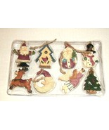 8 GLASS WOODLAND CHRISTMAS ORDAMENTS - $8.00