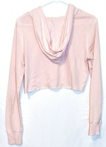 Old Navy Women's Pink Long Sleeve Hooded Cropped Shirt Size S image 2