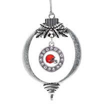 Inspired Silver Red and White Team Helmet Circle Holiday Decoration Chri... - €12,49 EUR