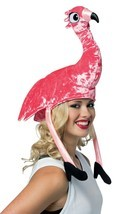 Rasta Imposta Flamingo Pink Bird Hat Adult Halloween Costume Accessory G... - $15.99