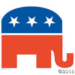 Republican Elephant Cardboard Stand-Up