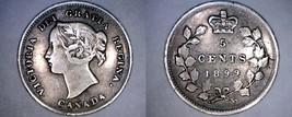1899 Canada 5 Cent World Silver Coin - Canada - Victoria - $14.99