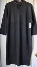 New Spense Women Studded Mockneck  Sweater Dress Charcoal Variety Sizes - $39.99