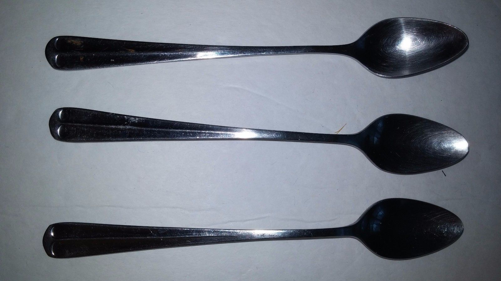 3 International Stainless Steel Flatware Gran Royal Long Ice Iced Tea Spoons - $11.61
