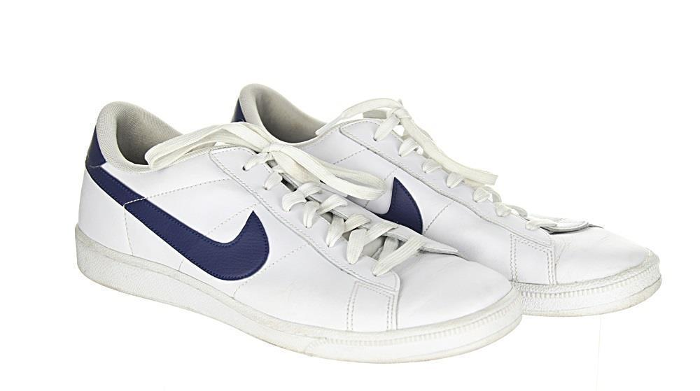 Nike Tennis Classic CS White/Navy Sneakers Trainers Size 10 F5312 Pre Owned