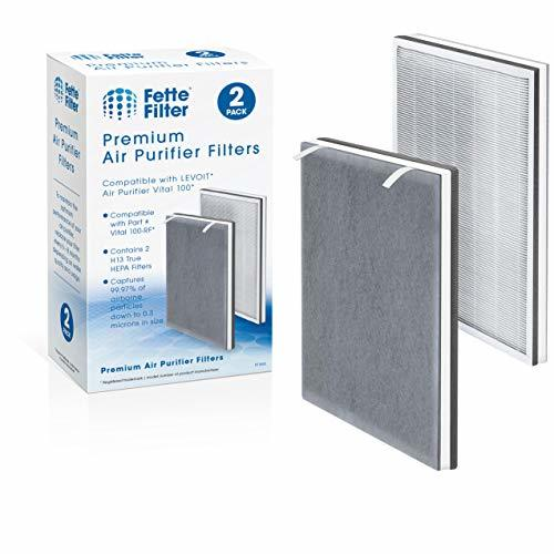 Fette Filter - 3-in-1 Air Purifier Replacement Filters H13 True HEPA and High-Ef