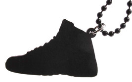 Good Wood NYC Flu Game 12 Sneaker Necklace Black/Red Shoes XII Varsity image 2