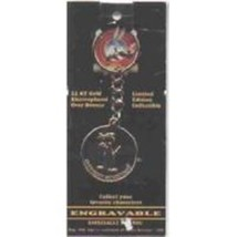 Bugs Bunny 50th Annivers Sylvester Gold Plate Keychain--NOT ON CARD - $7.85