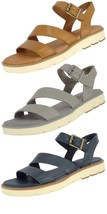 TIMBERLAND SAMPLE WOMEN'S BAILEY PARK Y STRAP LEATHER SANDALS US 7 EU 38 - $44.99