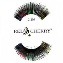 C201 Red Cherry Lashes Color Lashes Fake False Eyelashes US Seller - $3.75