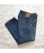 Levis 501 Blue Jeans Mens 36 x 30 Denim Pants Button Fly Straight Leg Mens - $28.66