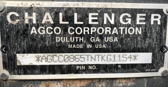 2008 CHALLENGER MT865B For Sale In Pendleton, Oregon 97801