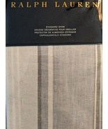 Ralph Lauren Oakview White/Cloud Blue Stripe Pillow Sham Standard - $42.00