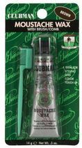 Clubman Pinaud Moustache Wax with Brush/Comb, Brown  .5 oz