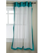 Stylemaster Soho 55 by 63-Inch Sheer Grommet Panel with Faux Silk Border... - $13.76