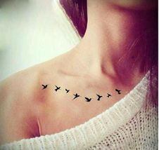 Arm Temporary Tattoos Art Sticker Waterproof Women Small Birds Fly image 5