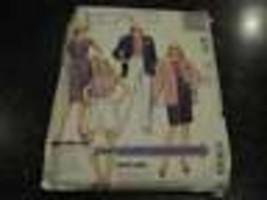 4171 Vintage Non Tagliati Mccalls Motivo Misses Giubbotto Gonna Pantalon... - $6.90