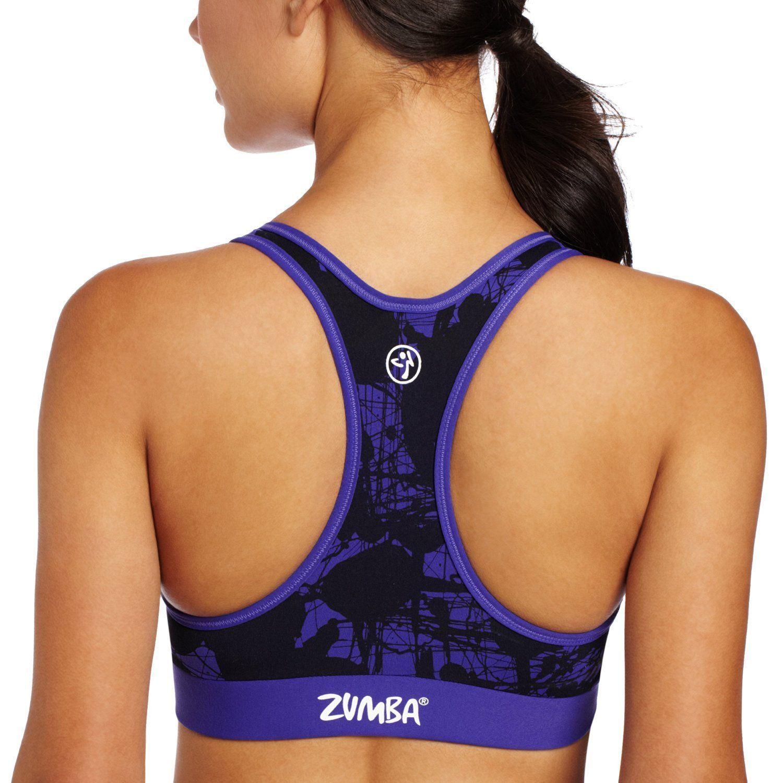 Zumba Fitness LLC Donna Bello in Stampa V-Bra Maglia, Ametista, XL